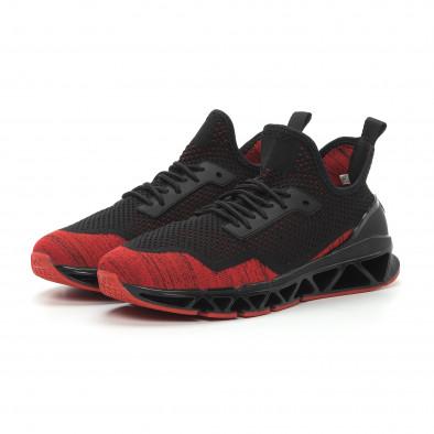 Ανδρικά κόκκινα αθλητικά παπούτσια Knife ελαφρύ μοντέλο it150319-25 4
