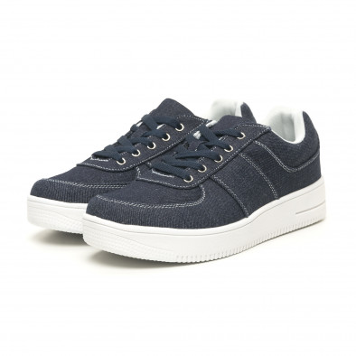 Ανδρικά ντένιμ  sneakers ελαφρύ μοντέλο it251019-2 3