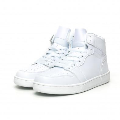 Ανδρικά ψηλά λευκά sneakers it051219-2 3