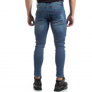 Ανδρικό γαλάζιο τζιν με σκισίματα και μπαλώματα it170819-48 5