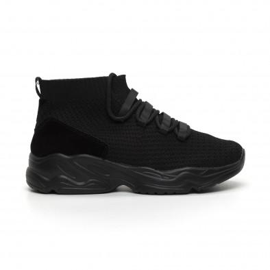 Ανδρικά αθλητικά παπούτσια τύπου κάλτσα All Black it260919-23 2