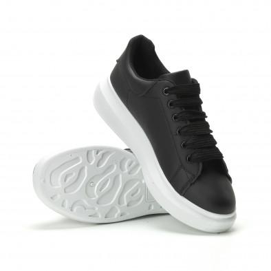 Ανδρικά μαύρα sneakers με χοντρή σόλα it250119-31 4