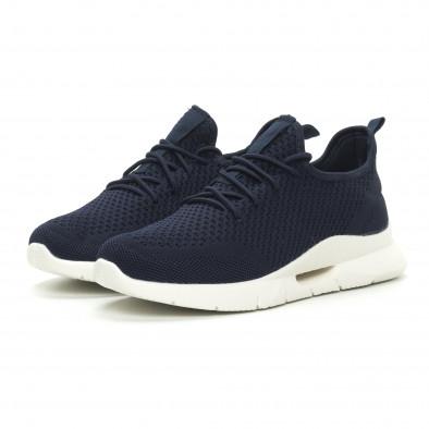 Ανδρικά μπλε αθλητικά παπούτσια ελαφρύ μοντέλο Hole design it150319-10 3
