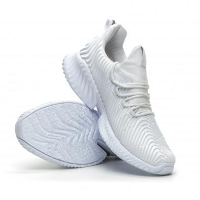 Ανδρικά λευκά αθλητικά παπούτσια Wave ελαφρύ μοντέλο it100519-3 4