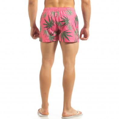 Ανδρικό ροζ μαγιό Herbs σχέδιο it090519-97 3