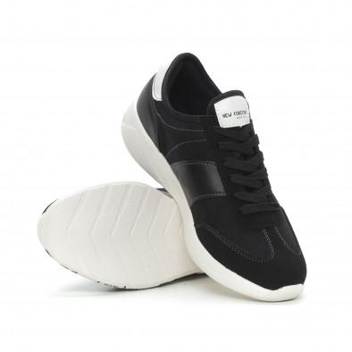 Ανδρικά μαύρα αθλητικά παπούτσια Montefiori it150319-29 4