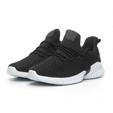 Ανδρικά μαύρα αθλητικά παπούτσια Wave ελαφρύ μοντέλο it100519-4 3