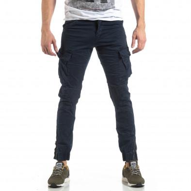 Ανδρικό μπλε παντελόνι Cargo Jogger  it210319-26 3