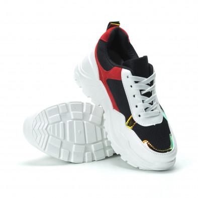 Γυναικεία κόκκινα- μαύρα sneakers με πλατφόρμα it250119-39 4