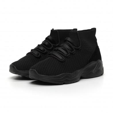 Ανδρικά αθλητικά παπούτσια τύπου κάλτσα All Black it260919-23 3