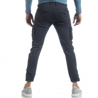 Ανδρικό μπλε cargo Jogger παντελόνι  it040219-32 4