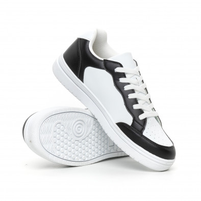 Ανδρικά skate sneakers σε λευκό και μαύρο it130819-7 4