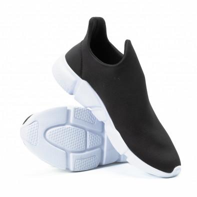 Ανδρικά μαύρα slip-on αθλητικά παπούτσια από νεοπρέν it140918-14 4