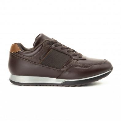 Ανδρικά καφέ αθλητικά παπούτσια κλασικό μοντέλο it221018-30 2
