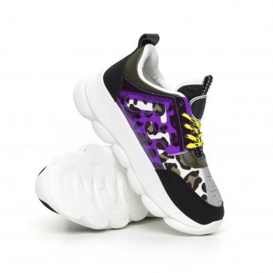 Γυναικεία μαύρα αθλητικά παπούτσια με λεπτομέρειες Mix it130819-66 4