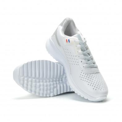 Ανδρικά λευκά αθλητικά παπούτσια ελαφρύ μοντέλο it250119-16 4