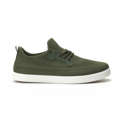 Ανδρικά χακί sneakers ελαφρύ μοντέλο it250119-15 2