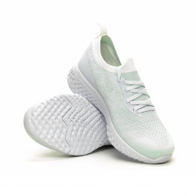 Γυναικεία λευκά αθλητικά παπούτσια καλτσάκι ελαφρύ μοντέλο it240419-53 4