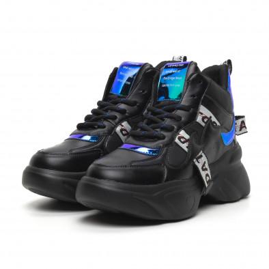 Γυναικεία ψηλά αθλητικά παπούτσια με νέον λεπτομέρειες it260919-64 3