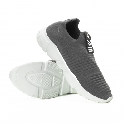 Ανδρικά γκρι αθλητικά παπούτσια Slip-on it221018-33 4