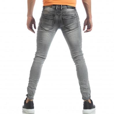 Ανδρικό γκρι Washed Slim Jeans τζιν it040219-14 3