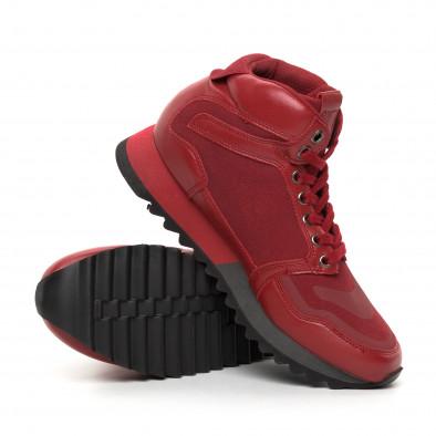 Ανδρικά ψηλά κόκκινα αθλητικά παπούτσια  it130819-25 4