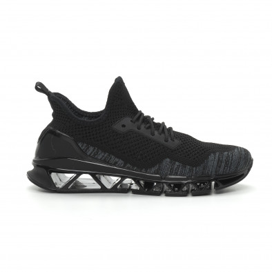 Ανδρικά μαύρα αθλητικά παπούτσια Knife ελαφρύ μοντέλο it150319-26 2