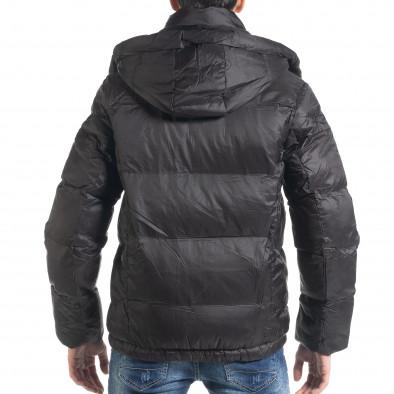 Ανδρικό μαύρο χειμωνιάτικο μπουφάν Marshall Angel it091219-11 4