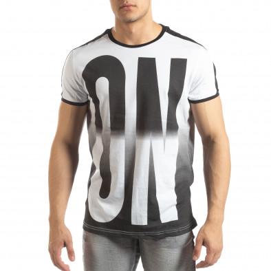 Ανδρική λευκή κοντομάνικη μπλούζα ON/OFF it150419-49 2