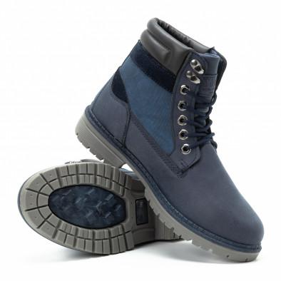 Ανδρικά μπλε μποτάκια με λογότυπο it140918-26 4