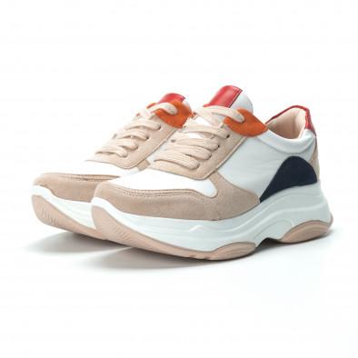Γυναικεία πολύχρωμα sneakers με πλατφόρμα it250119-48 3
