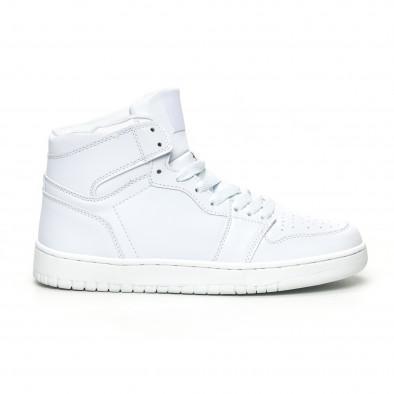 Ανδρικά ψηλά λευκά sneakers it051219-2 2