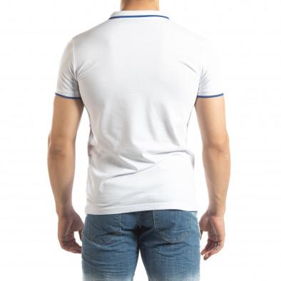 Ανδρική λευκή πόλο με λογότυπο it150419-60 3