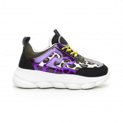 Γυναικεία μαύρα αθλητικά παπούτσια με λεπτομέρειες Mix it130819-66 2