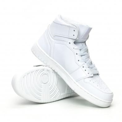 Ανδρικά ψηλά λευκά sneakers it051219-2 4