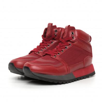 Ανδρικά ψηλά κόκκινα αθλητικά παπούτσια  it130819-25 3