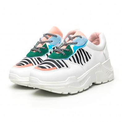Γυναικεία πολύχρωμα Chunky αθλητικά παπούτσια με ζέβρα μοτίβο it281019-4 3