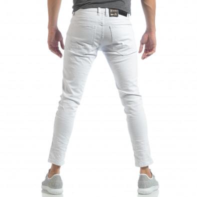 Ανδρικό λευκό Skinny τζιν με τσαλακωμένο εφέ it040219-1 3