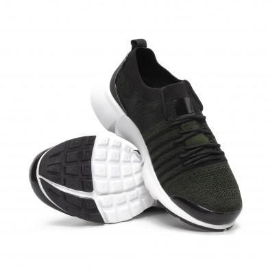 Ανδρικά πράσινα αθλητικά παπούτσια καλτσάκι ελαφρύ μοντέλο it240419-24 4