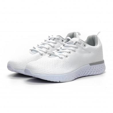 Ανδρικά λευκά πλεκτά αθλητικά παπούτσια  it240419-13 3