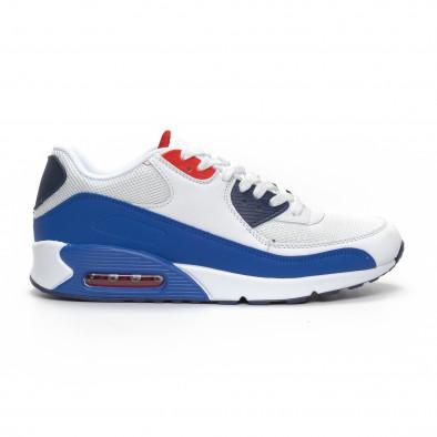 Ανδρικά λευκά αθλητικά παπούτσια με αερόσολα it240419-19 2