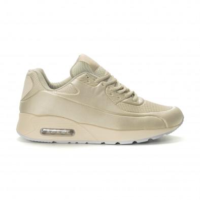 Ανδρικά μπεζ αθλητικά παπούτσια Air it190219-9 2