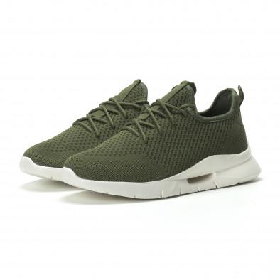 Ανδρικά πράσινα αθλητικά παπούτσια Hole design ελαφρύ μοντέλο it250119-22 3