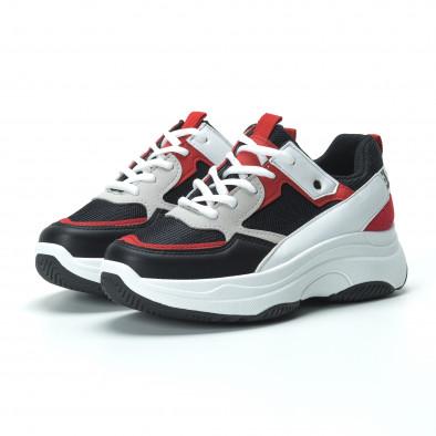 Γυναικεία sneakers από συνδυασμό χρωμάτων με πλατφόρμα it250119-33 4