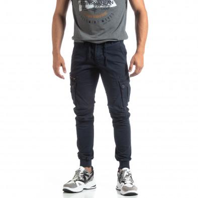 Ανδρικό μπλε παντελόνι Cargo Jogger it170819-8 3