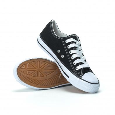 Γυναικεία μαύρα sneakers κλασικό μοντέλο it250119-70 4