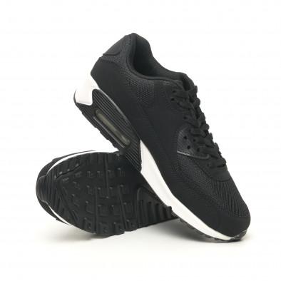 Ανδρικά μαύρα αθλητικά παπούτσια με αερόσολα it251019-8 5