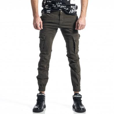Ανδρικό πράσινο παντελόνι cargo Jogger it010221-45 2