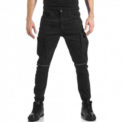 Ανδρικό μαύρο παντελόνι cargo Always Jeans it041217-43 2