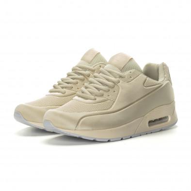 Ανδρικά μπεζ αθλητικά παπούτσια Air it190219-9 3